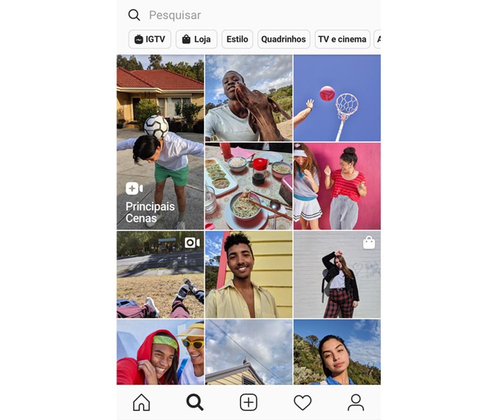 Scenes like a self-focus on the Explore tab Photo: Divulgao / Instagram