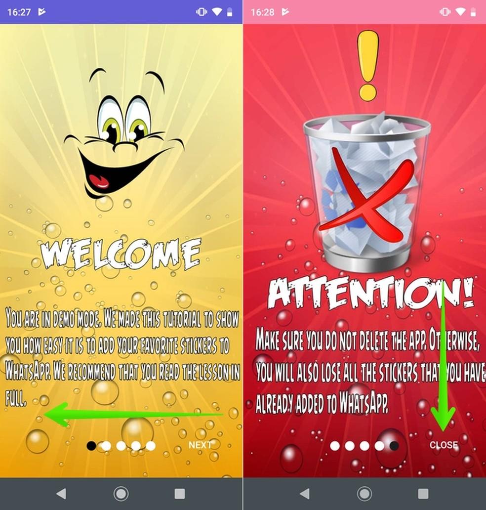 App introduction screens Stickers Yellow Marine Boy Photo: Reproduction / Helito Beggiora