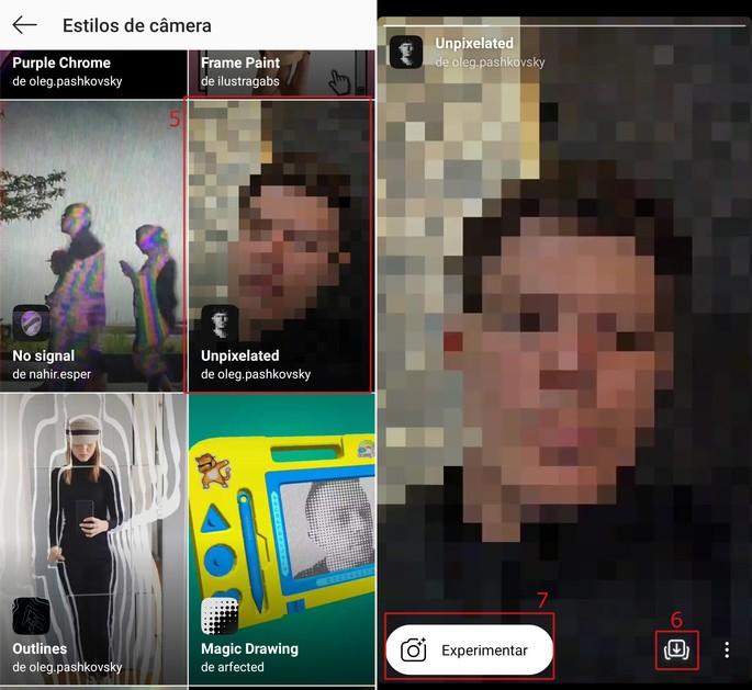Instagram stories effects