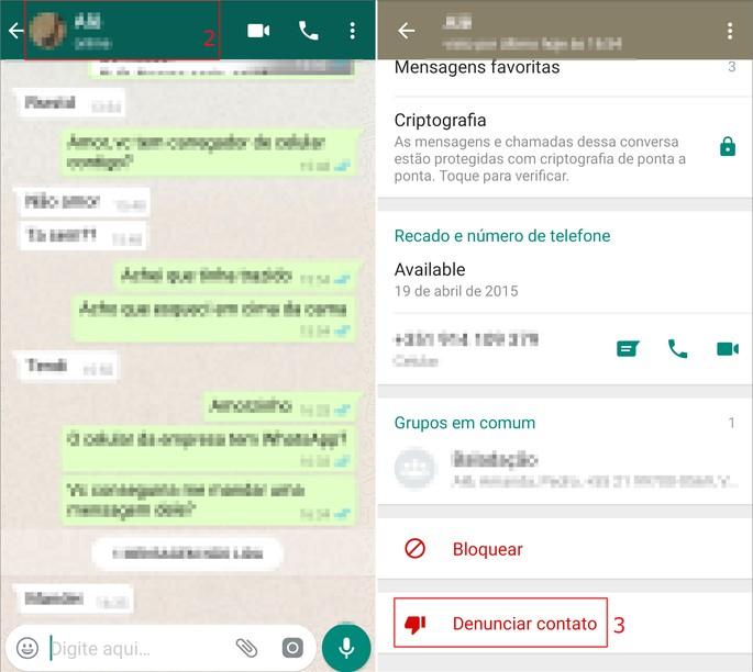 Report spam whatsapp