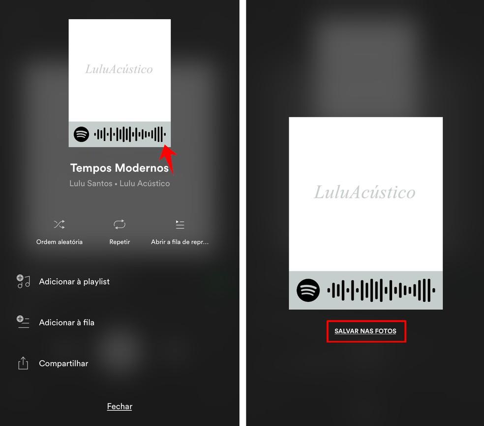 Saving a Spotify QR Code Photo: Reproduo / Rodrigo Fernandes