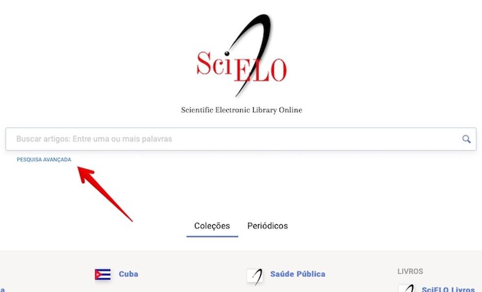 Access the advanced search Photo: Reproduction / Helito Beggiora