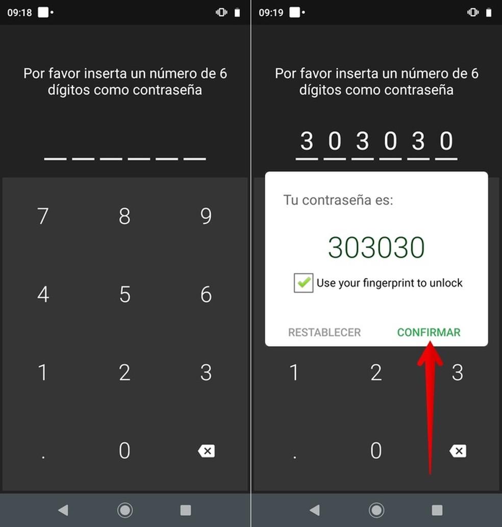 Create an unlock password for Hidder App Photo: Play / Helito Beggiora
