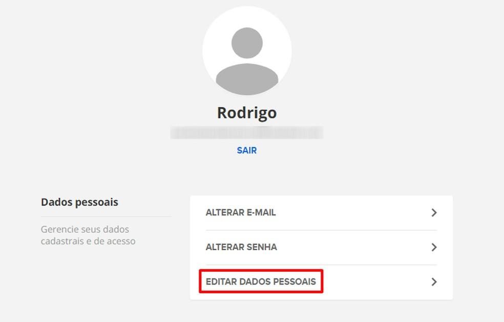 Editing Profile on the Globo Account Photo: Reproduo / Rodrigo Fernandes