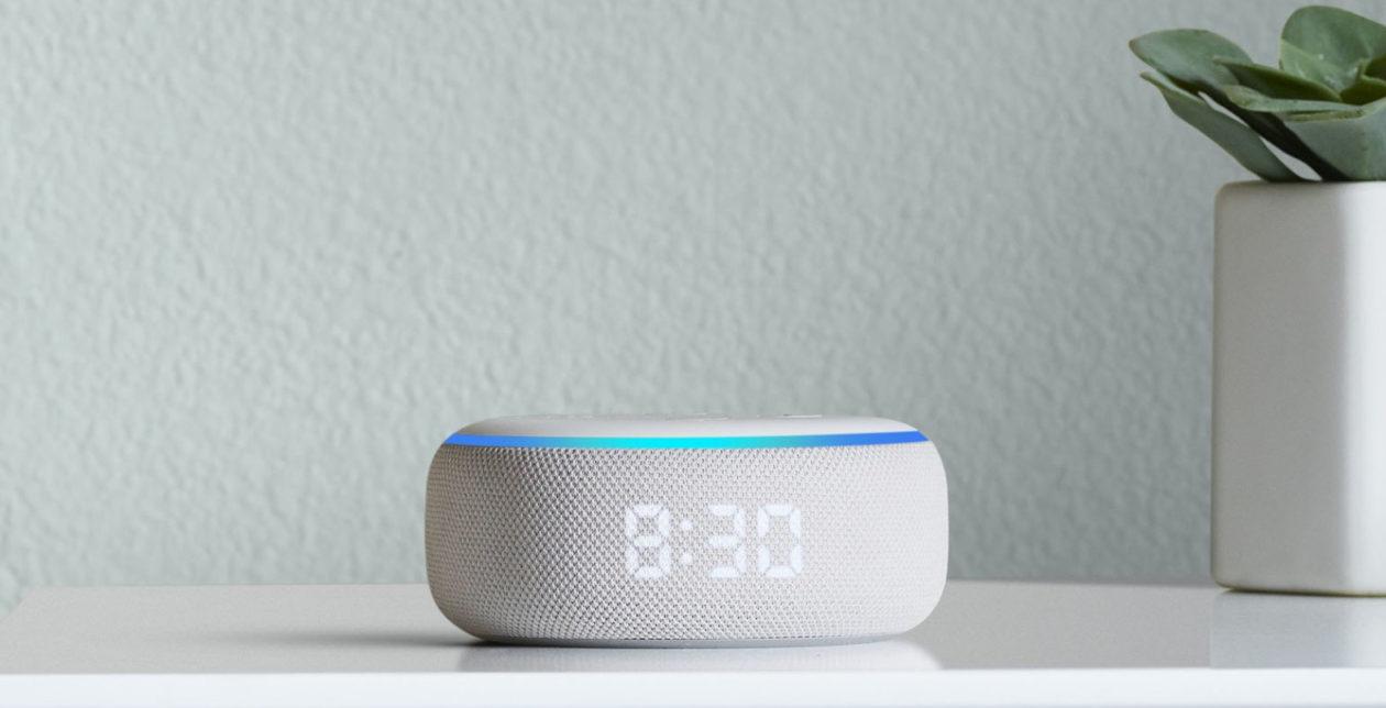 Amazon Echo Dot With Clock