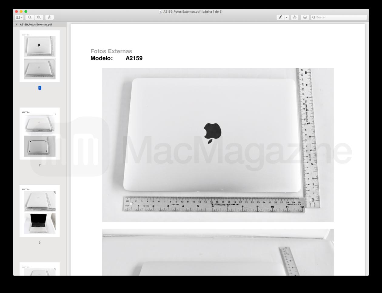 New 13-inch MacBook Pro homologation