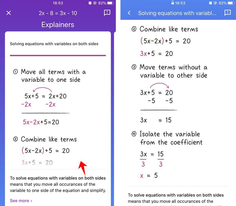 Socratic shows example of mathematical problem solving Photo: Reproduction / Rodrigo Fernandes