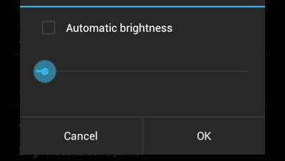 Android brightness adjustment
