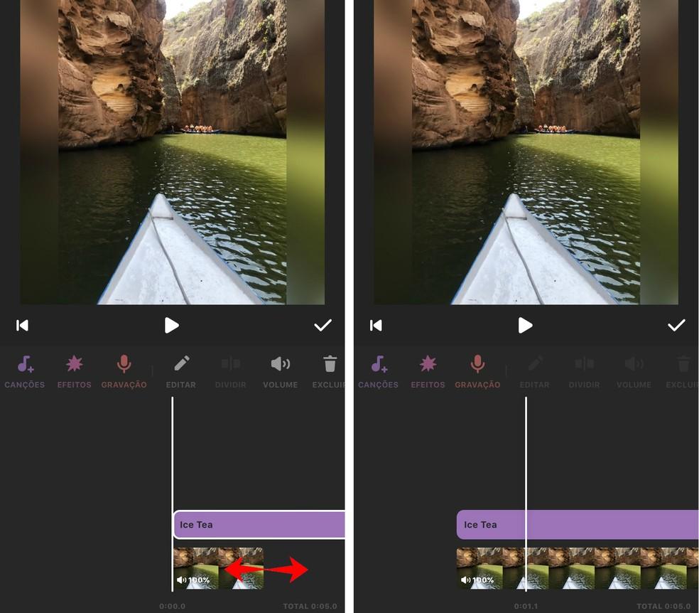 Easily increase video length in InShot Photo: Reproduction / Rodrigo Fernandes