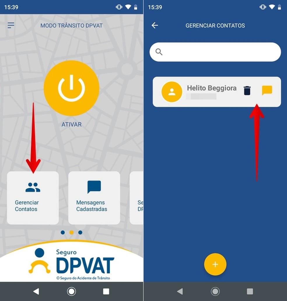 Managing DPVAT Auto-Respondent Contacts Photo: Playback / Helito Beggiora