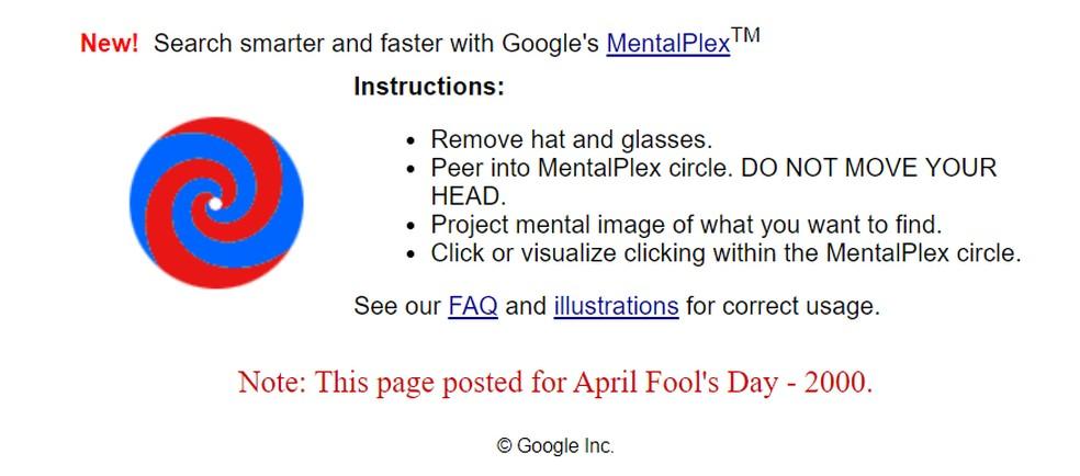 Mentalplex fake technology is among hidden jokes on Google Photo: Playback / Google