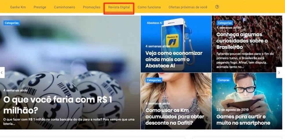Digital magazine of the service site Km de Vos Advantages of Ipiranga Photo: Reproduo / Marvin Costa