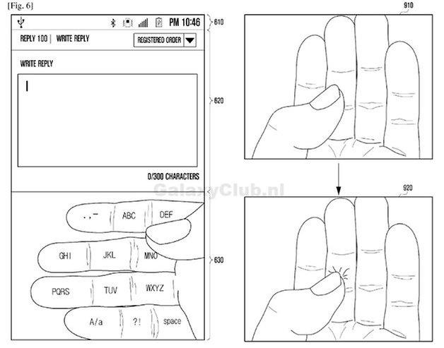 samsung augmented reality hand keyboard