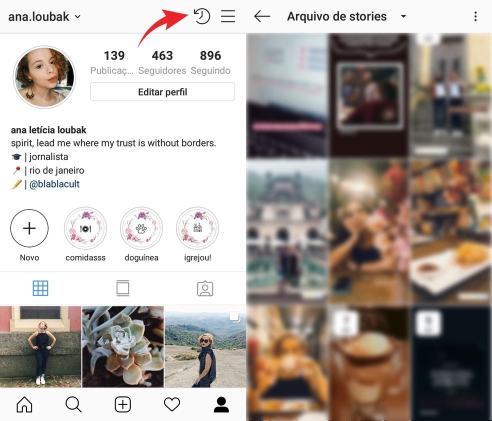 Open the Instagram Stories Collection Foto: Reproduo / Ana Letcia Loubak