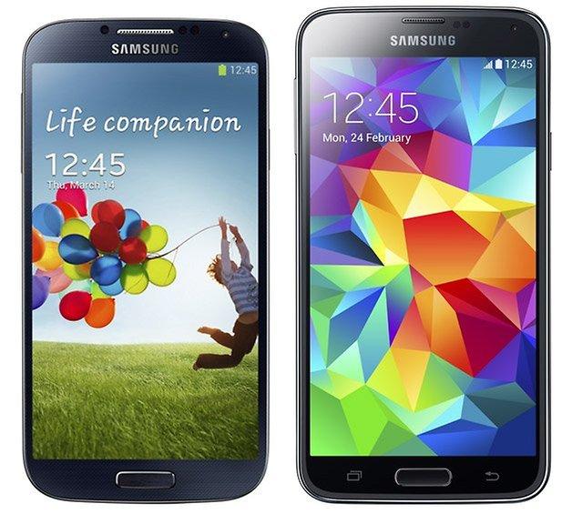 galaxy s4 s5 comparison