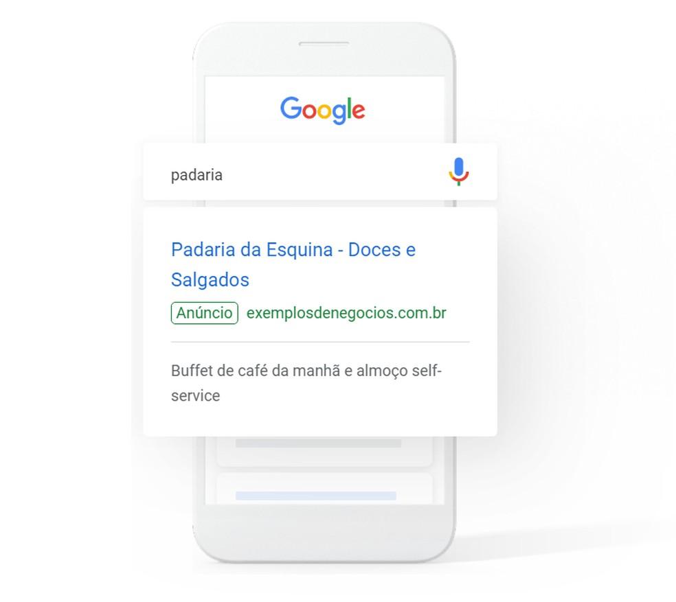 Google AdSense Search Example Photo: Divulgao / Google
