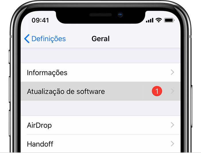 IOS Update on iPhone XS Settings