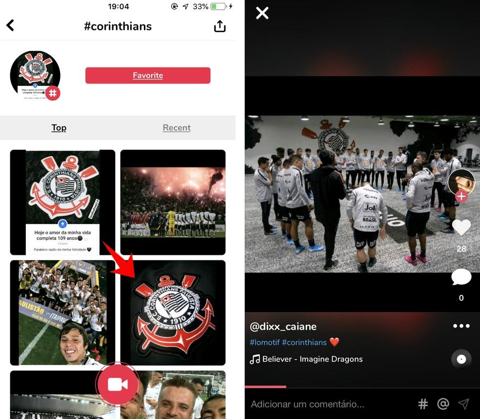 You can find several Corinthians videos on Lomotif Photo: Reproduction / Rodrigo Fernandes