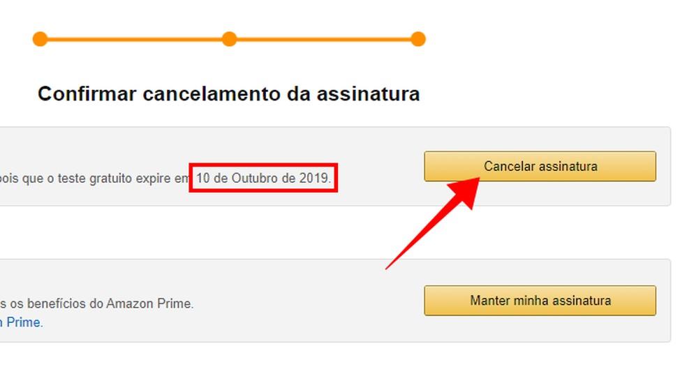 Cancel Amazon Prime Photo: Reproduction / Paulo Alves