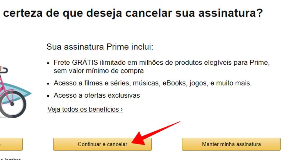 Choose to cancel Amazon Prime Photo: Reproduction / Paulo Alves