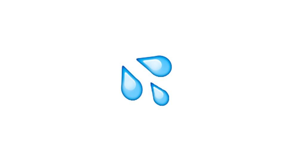 Sweat Drops Emoji Photo: Reproduction / Emojipedia