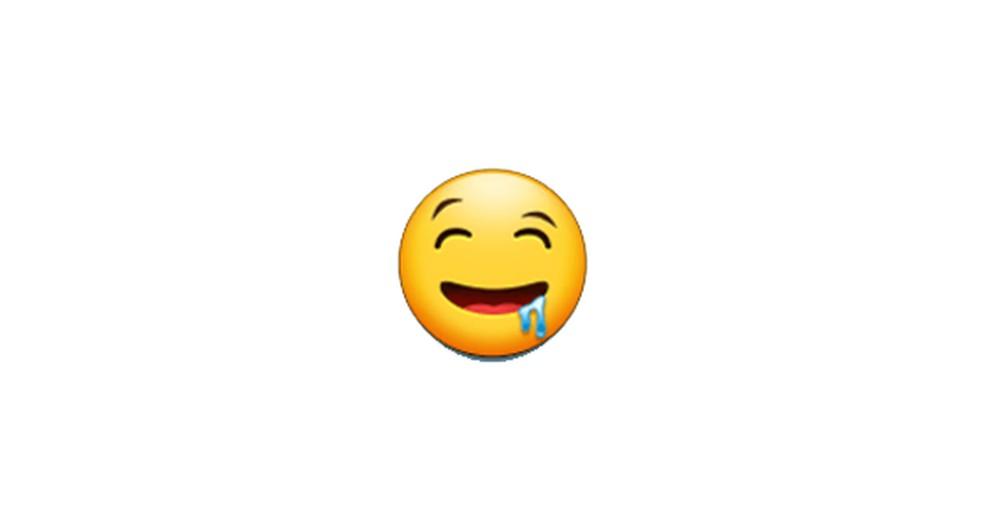 Face Drooling Emoji Photo: Reproduction / Emojipedia