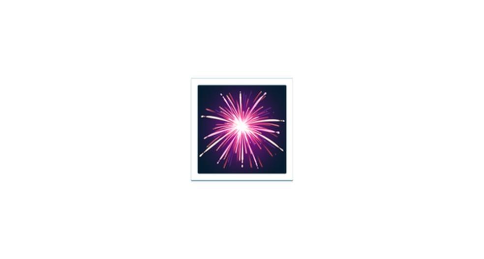 Fireworks Emoji Photo: Reproduction / Emojipedia