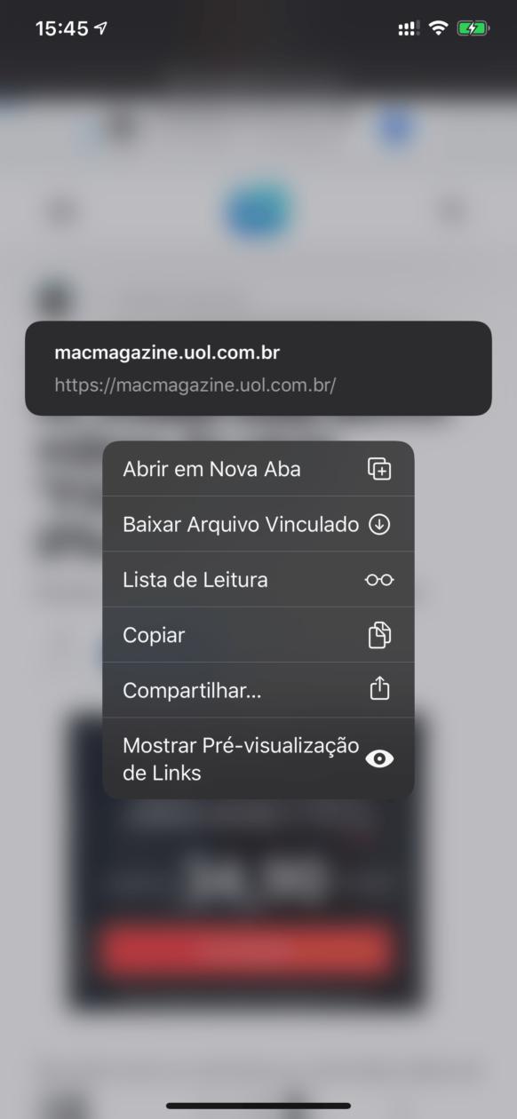 IOS 13 beta 6 link preview