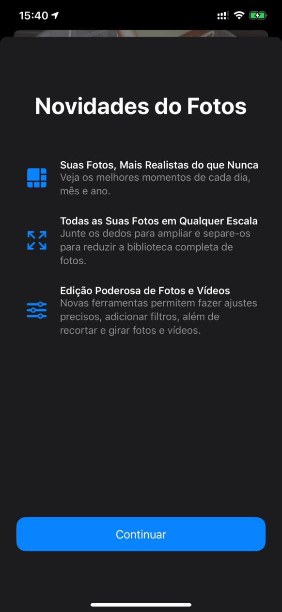 Photos news screen on iOS 13 beta 6