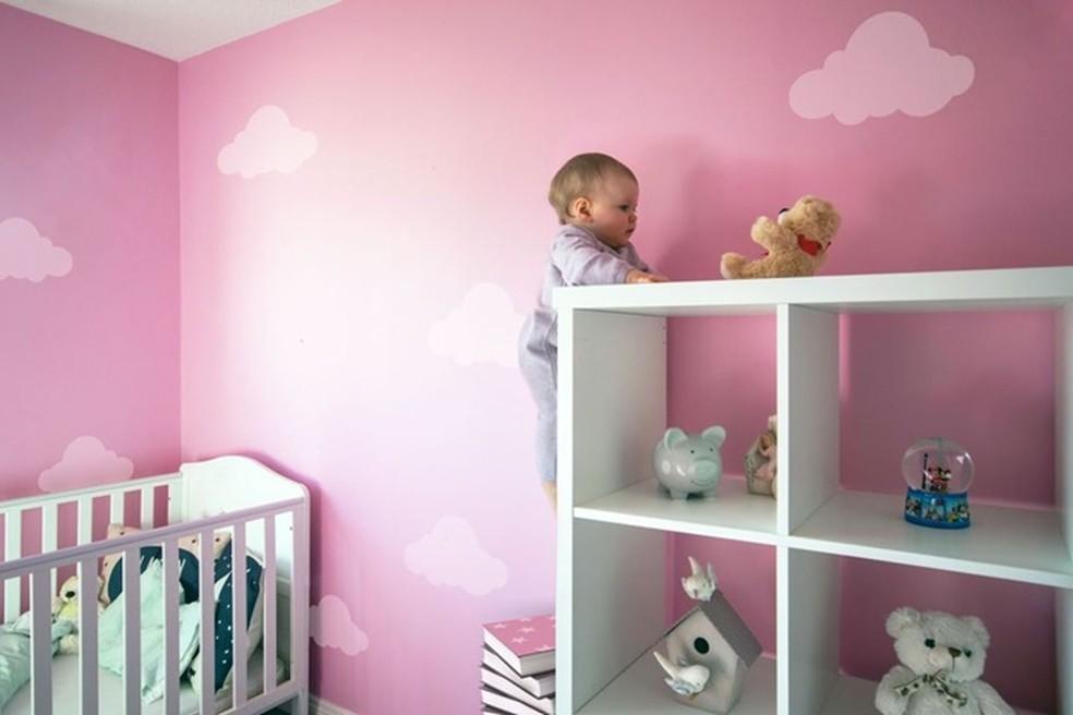 Ruby climbs on the shelf to catch a bear Photo: Divulgao / Summer