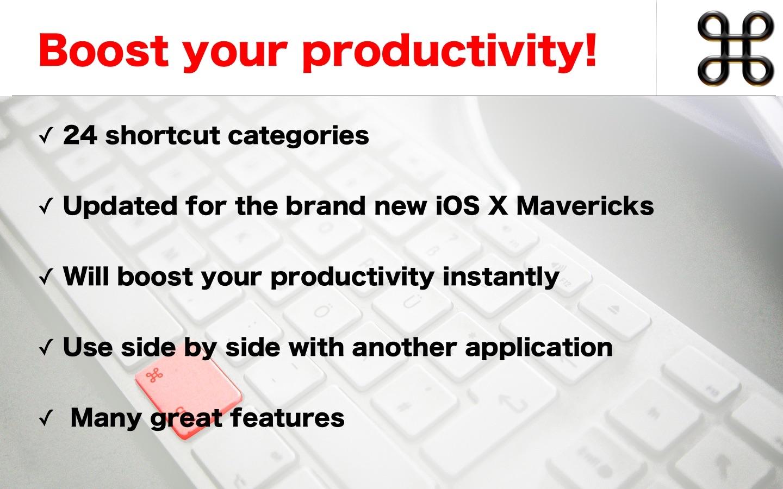 Shortcuts for Mac app Screenshot