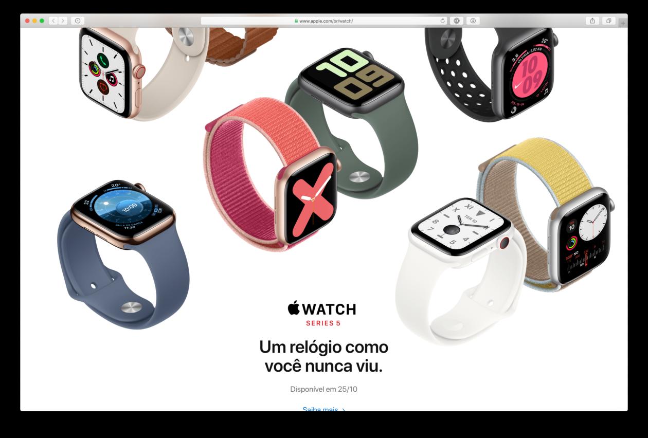 Apple Watch Series 5 in Brazil on October 25
