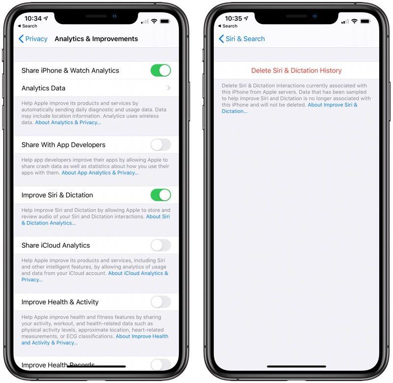 Deleting Siri Recordings on iOS 13.2 beta 2