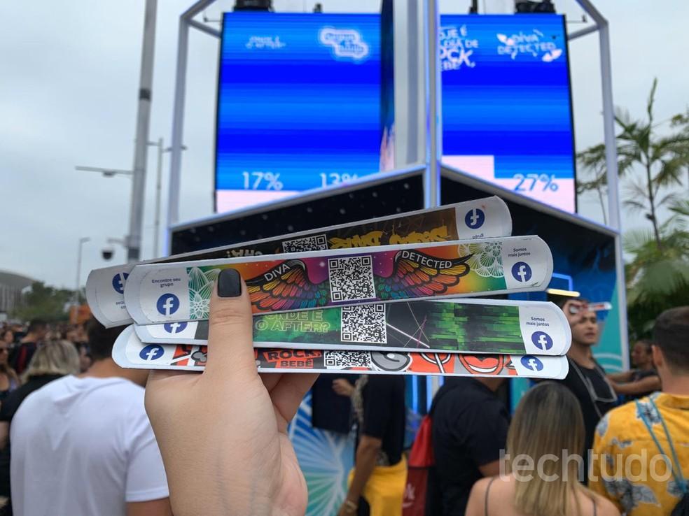 Facebook bracelets release private party access at Rock in Rio 2019 Photo: Anna Kellen Bull / TechTudo