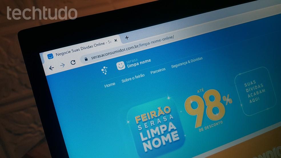 Serasa Fair has up to 98% off to clear name Foto: Paulo Alves / TechTudo
