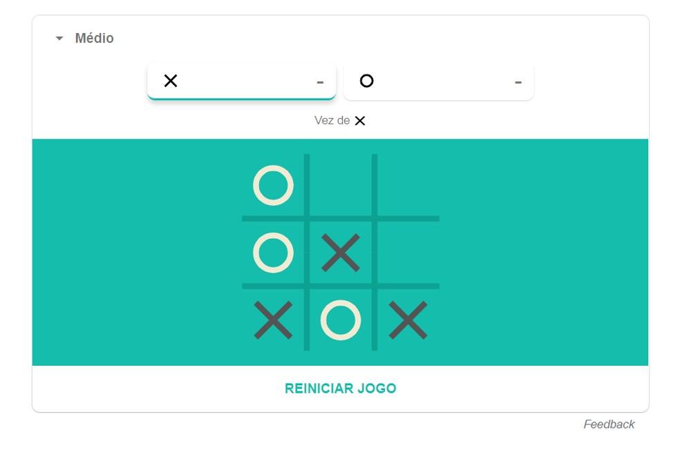 Hidden Tic Tac Toe on Google Photo: Playback / Google