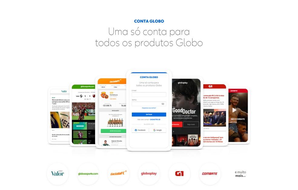 Globo Account rene all Globo products in one login Photo: Play / Globo Account