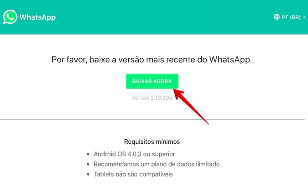 Download WhatsApp APK file Photo: Reproduo / Helito Beggiora