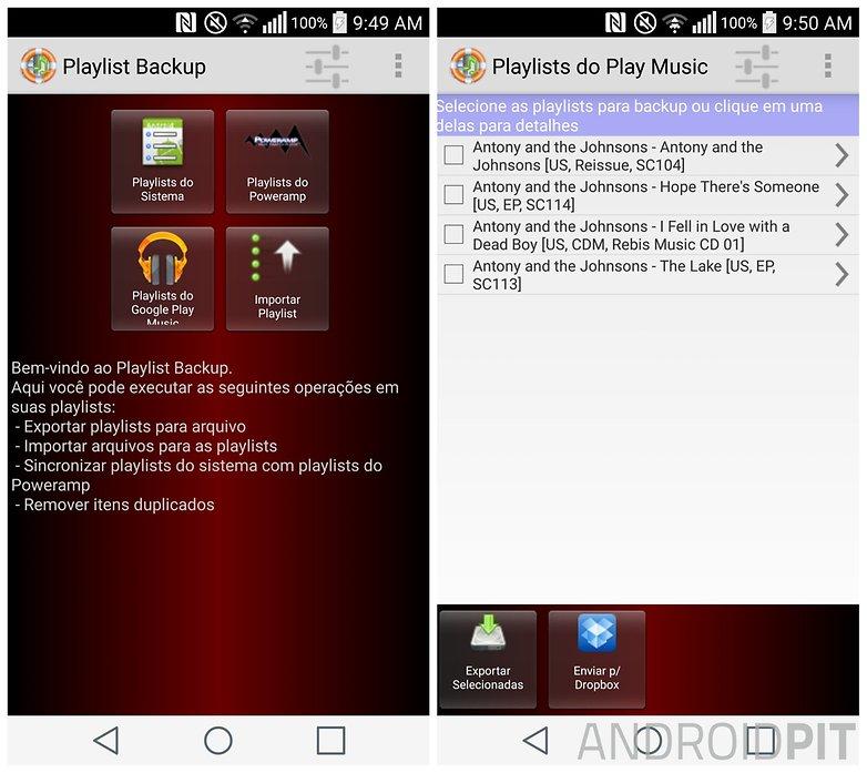 playlist backup print BR