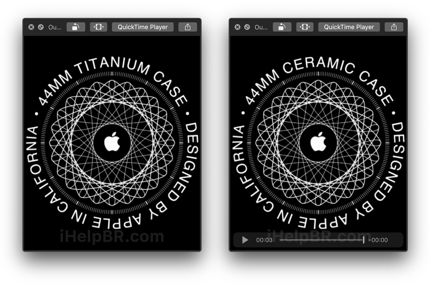 Titanium and Ceramic Apple Watch
