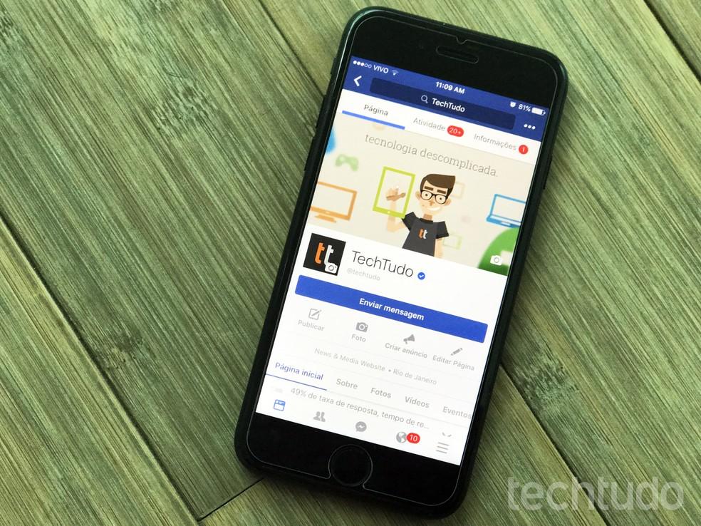 iOS 13 begins to flag Bluetooth usage in Facebook background on iPhone Photo: Carolina Ochsendorf / TechTudo