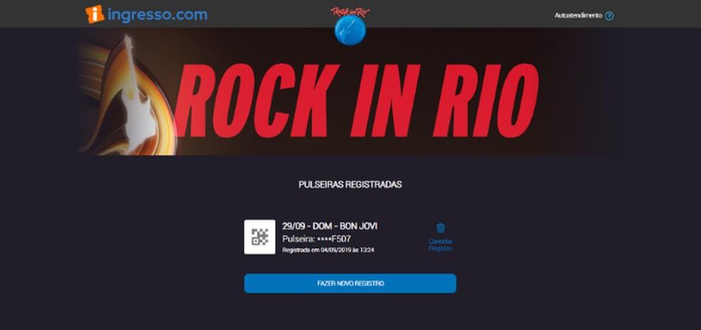 Registration confirmation message Photo: Reproduction / Lvia Dmaso