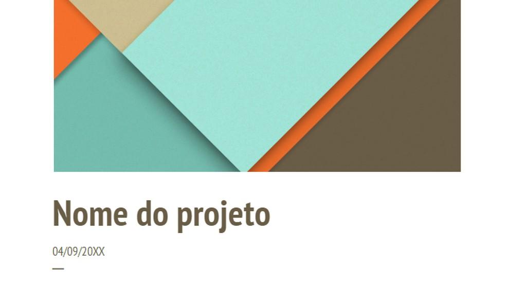 Google Docs has ready model of work proposal Photo: Reproduo / Paulo Alves