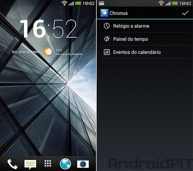 Chronus home screen
