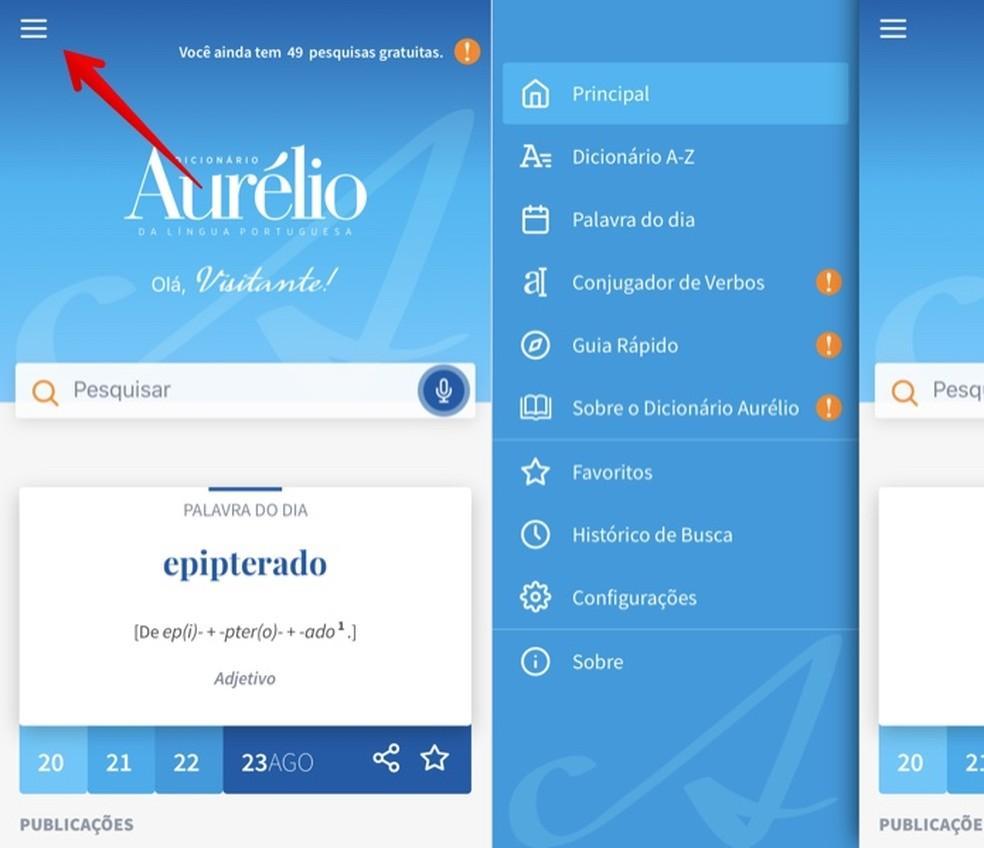 Aurlio Digital Application Menu Photo: Reproduction / Helito Beggiora
