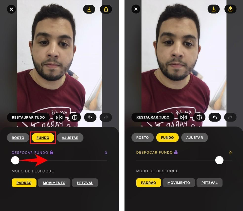 Lensa app lets you apply Portrait Mode to photos in the Photo: Reproduction / Rodrigo Fernandes gallery
