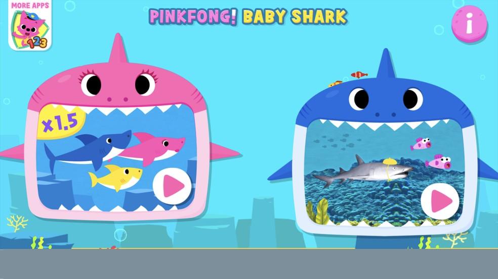 Baby Shark app has different versions of shark video Photo: Reproduction / Rodrigo Fernandes