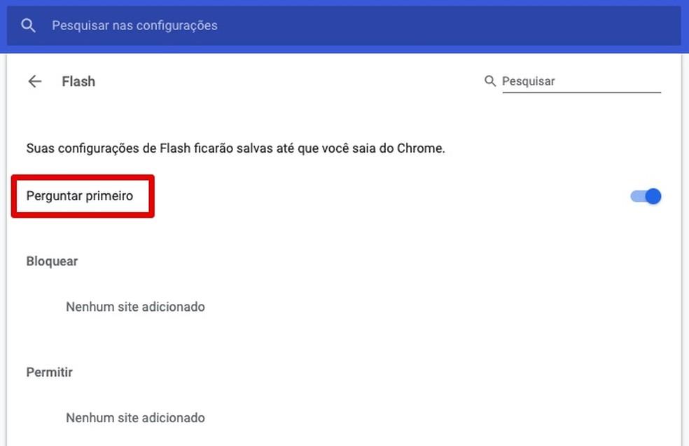 Unlocking Flash in Chrome Photo: Play / Helito Beggiora