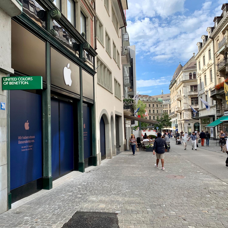 New Apple Store in Zurich