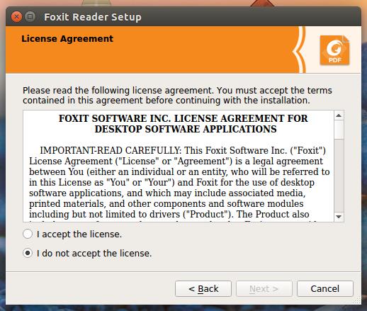 Installing Foxit Reader on Ubuntu